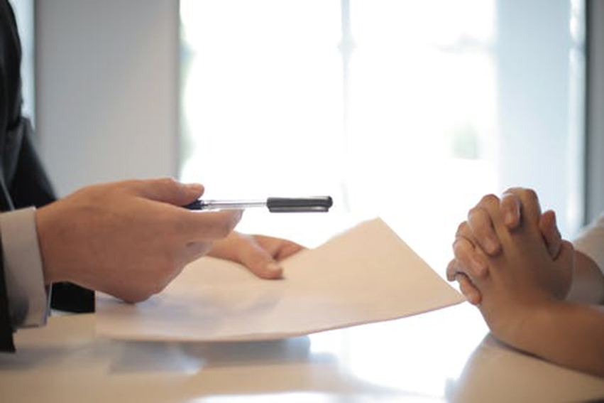 insurance broker with documents