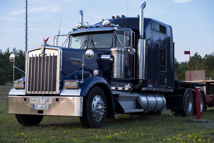large semi truck, tractor trailer